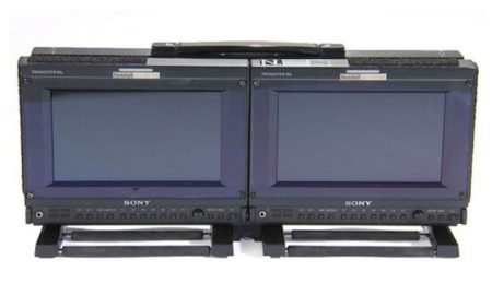 "Sony OLED PVM 741 (9"") Pair in mount"